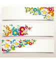 Spring flower banner vector image vector image
