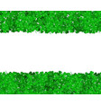 st patricks day clover green border of shamrocks vector image vector image
