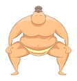 Sumo wrestler icon cartoon style vector image