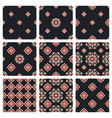 the set of patterns modern graphic for textile vector image