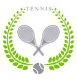 the theme tennis vector image vector image