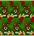 tiger walking in forest vector image vector image
