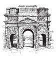 triumphal arch a monumental structure vintage vector image vector image