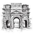 triumphal arch a monumental structure vintage vector image vector image