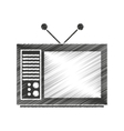 tv old isolated icon vector image vector image