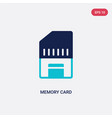 two color memory card icon from electronic stuff vector image vector image