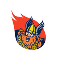 viking warrior or norse god vector image vector image