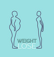 weight lose logo icon vector image vector image