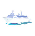 white passenger ship on water vector image vector image