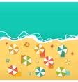 Summer Holidays with beach umbrellas vector image