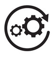 workflow icon on white background workflow sign vector image