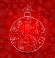 Abstract ball made in Christmas hand drawn vector image vector image