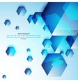 Abstract blue and glass hexahedrons background vector image vector image