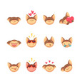 adorable cartoon cat set icons vector image vector image