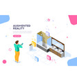 augmented reality website banner vector image vector image