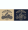 bikers club vintage label vector image vector image