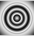 black and white radial element concentric lines vector image