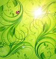 Bright Green Summer Design vector image vector image