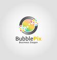 bubble pixel logo vector image