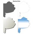 Buenos Aires blank outline map set vector image vector image