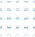burger icon pattern seamless white background vector image vector image