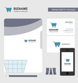 cart business logo file cover visiting card and vector image vector image
