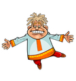 cartoon character funny man in Russian national vector image vector image