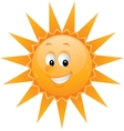 Cartoon sun smiley face vector image