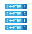 Chapter One Two Three Four vector image vector image