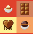 chocolate candies design vector image vector image