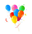 color helium balloon set for party event vector image