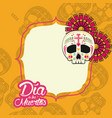 day of the dead frame vector image vector image