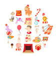 delight icons set cartoon style vector image