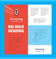 dna business company poster template with place vector image vector image