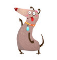 dog funny and playful vector image vector image