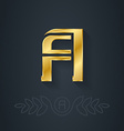 elegant gold font Letter A Template for company vector image vector image