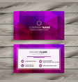 elegant purple business card design vector image vector image