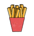 fast food fries french meal vector image vector image