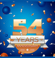 fifty four years anniversary celebration design vector image vector image
