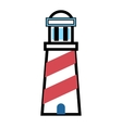 Flat lighthouse icon vector image vector image