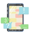 flat mobile phone vector image