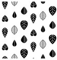 folk art seamless pattern with decorative leaves vector image