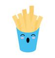 french fries box kawaii cartoon vector image vector image