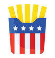 fries united state independence day related icon vector image vector image