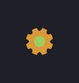 gearwheel computer symbol vector image vector image