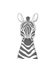 hand drawn zebra poster for baroom vector image vector image