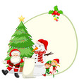 happy christmas card template vector image vector image