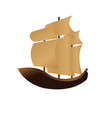 happy columbus day ship design vector image