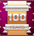 Hundred years anniversary celebration design