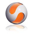 ico ball orange vector image vector image